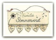 Tür- & Namensschilder - Türschild Namensschild Pusteblume - ein Designerstück von Schilderwaldi bei DaWanda