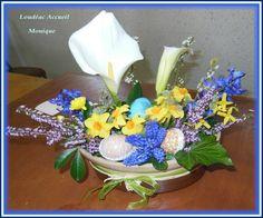 Art floral Pâques 2015 Loudéac Accueil MONIQUE