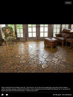Earthship Spain  Beautiful floor...