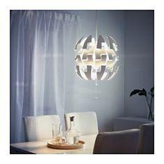 IKEA - IKEA PS 2014, Lámpara de techo, blanco/turquesa, , Puedes pasar fácilmente de una iluminación general más intensa a una ambiental más tenue con solo tirar de los cordones.Crea sombras decorativas en el techo y las paredes.