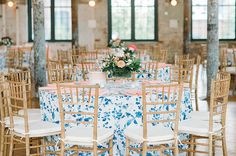 Patterned Wedding Linens  Coordination | Mac & B Events > Photography | Aaron and Jillian Photography > Venue | The Cedar Room > Florist | Out of the Garden