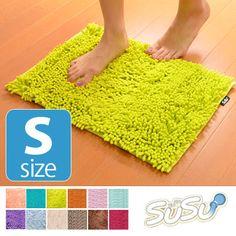 スーパードライバスマット SUSU(スウスウ・吸う吸う) Sサイズ 36×50cm 抗菌仕様 ( マイクロファイバー 風呂マット )【楽天市場】