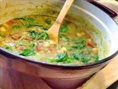 thai basil lentils with sweet potato