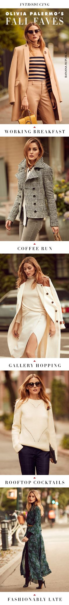 Our style ambassador Olivia Palermo believes in the power of the right fit, the magic of accessories and investing in pieces you'll love forever. Check out Olivia's picks from our new fall collection.