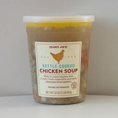 Pin for Later: The Best New Trader Joe's Products From 2016 Pick Up: Kettle Cooked Chicken Soup ($6)