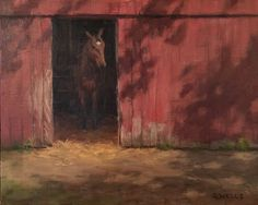 """Peeking Out"" by Dinah Wells, 9x12 oil"