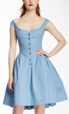 Anglomania Pannier Pleated Dress, cute but the color is too light.