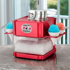 All you need is ice, flavored syrup and a Waring Pro Snow Cone maker to enjoy fun, icy treats at home, any time. It's easy and safe to operate, too.(With adult supervision, of course.)