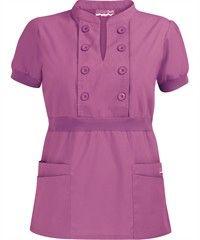 Butter-Soft Scrubs by UA Women's Bib Button Front Scrub Top Nursing Scrubs, Medical Scrubs, Nursing Clothes, Scrubs Uniform, Military Looks, Sewing Blouses, Nurse Costume, Uniform Design, Teacher Outfits