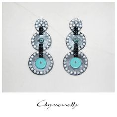 JEWELRY | Chryssomally || Art & Fashion Designer - Art Deco Revisited earrings made of leatherette, gemstones and sparkling crystals Fashion Art, Fashion Design, Belly Button Rings, Art Deco, Sparkle, Gemstones, Crystals, Earrings, Jewelry