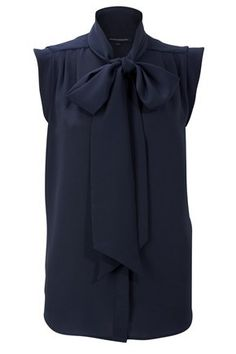 Silky Tie Neck Blouse - Tops - French Connection Usa