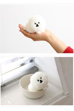 Based on the drawing of Bichon Frize by the illustrator Ichimi Shiokawa, the popular MAMBO series, a stuffed doll bag charm with hand-held size was made.