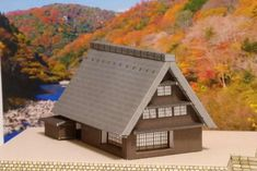 Japanese Farm House for Diorama Ver.2 Free Building Paper Model Download - http://www.papercraftsquare.com/japanese-farm-house-for-diorama-ver-2-free-building-paper-model-download.html#1144, #1160, #BuildingPaperModel, #Diorama, #Farm, #House, #NScale
