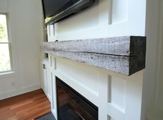 How Install a Barn Beam Mantel