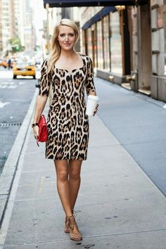 leopard and a pop of red I Dress, Dress Outfits, Fashion Dresses, Animal Print Outfits, Animal Prints, Leopard Dress, Cheetah, Love Clothing, Dressy Dresses