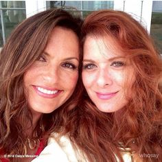 Two of my favorites from tv, Mariska Hargatay Law and Order SVU! Debra Messing Will and Grace! Beautiful Celebrities, Beautiful Actresses, Beautiful People, Red Hair Inspiration, Debra Messing, Happy Stories, Olivia Benson, Will And Grace, Mariska Hargitay
