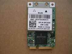 New DELL LATITUDE D531 WIRELESS WIFI CARD DP/N 0PC559 DW1390 by Dell. $25.99. Dell Wireless Mini PCI Express Card. Dell part number: 0PC559. Connect your notebook wirelessly to any 802.11b or 802.11g Wi-Fi network with the Wireless 1390 802.11g Mini PCI Express Internal Card from Dell. This mini PCI express internal card, also called mini-card. Moreover, it supports data transfer rates of up to 54 Mbps and is compatible with Dell XPS M1210 Notebook.  Dell Part Number:...