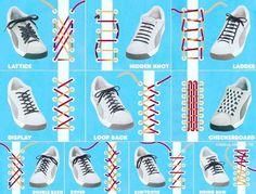 اقسام روش های بستن بند کفش