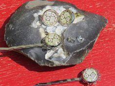 Glas Ohrstecker mit richtigen Verschluß!! Cabochon von Sonja Sonnenschein auf DaWanda.com
