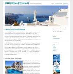 WordPress site griechenlandvillen.de uses the Yoko wordpress website template