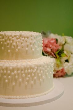 simple cake with dots // Images by Amanda Megan Miller Photography