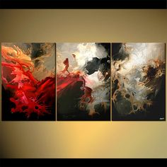 """Osnat Fine Art Abstract Painting: """"Dragon and Rider"""""""