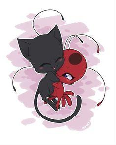 Cuddle Time with Tikki and Plagg! (by EclipseTheDarkWing, Miraculous Ladybug) Cuddle Time with Tikki and Plagg! (by EclipseTheDarkWing, Miraculous Ladybug) Anime Miraculous Ladybug, Miraculous Ladybug Fanfiction, Ladybug E Catnoir, Ladybug Comics, Lady Bug, Tikki Y Plagg, Chibi, Adrien Y Marinette, Miraculous Ladybug Wallpaper