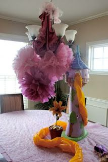 Rapunzel party has some cute ideas.