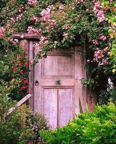 Pink Garden door