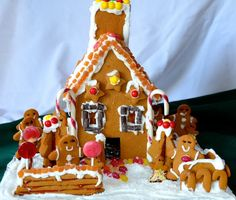 Allergy-Friendly, Gluten-Free Gingerbread House. Free of all top 8 allergens. #glutenfree #foodallergy