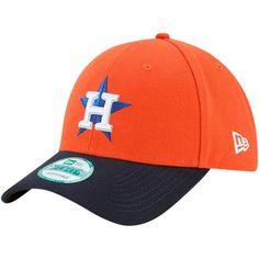 Men s Houston Astros New Era Orange Navy The League Alternate 9FORTY  Adjustable Hat a6309a4011fc