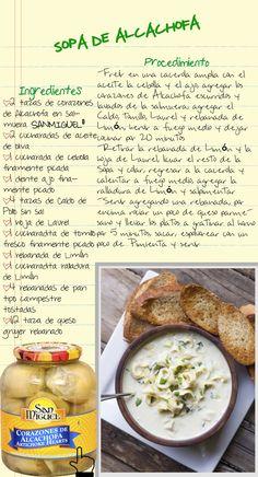 Receta de sopa de Alcachofa con San Miguel siempre tendrás los mejores ingredientes y como resultado tendrás los mejores platillos