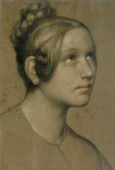 PINTORES Y PINTURAS - JUAN CARLOS BOVERI: MARIE ELLENRIEDER.Retrato de María   Hutter