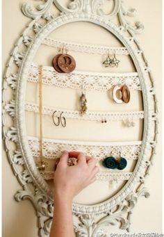 DIY Necklace and/or Earrings Hanger