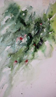 """Winter Berries "" Original watercolour by Jean Haines"