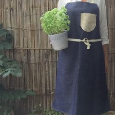 UNISEX DENIM APRON - perfect for gardening and cooking!