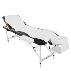Massage Table Couch Bed Aluminium Deluxe Lightweight Professional Beauty Tattoo Spa Reiki Portable Folded 3 Section with Premium PU Leather Foam Carrying Bag Capacity 250 kg)