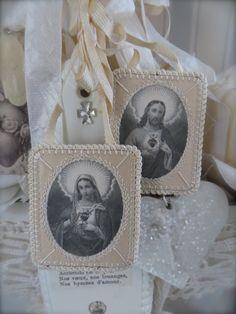 Vintage scapulars  #Catholic