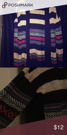 Tribal Print Striped Cardigan Multi color. Size Large, worn a handful of times Sweaters Cardigans