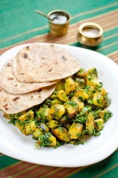 Alu palak – spenótos krumpli - Kifőztük, online gasztromagazin My Recipes, Paleo, Chicken, Meat, Ethnic Recipes, Food, Indian, Holiday, Turmeric