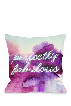 """Oliver Gal by One Bella Casa """"Perfectly Fabulous"""" Pillow <3"""