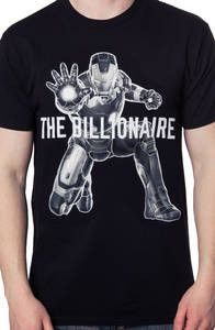 Iron Man is only able to fly around as a titanium alloy suit of armor because the man inside the suit is billionaire playboy Tony Stark. This shirt features an image of the indestructible Iron Man, an Retro Outfits, Cool Outfits, Famous Superheroes, Captain America Shirt, New Iron Man, Marvel Fashion, Disney Couple Shirts, Suit Of Armor, Funny Tshirts
