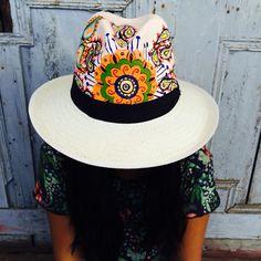 Sombreros pintados 100% a mano. Pedidos 3125681098-3135366773 2933a4e0b0c