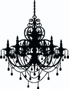 Peel and stick wall decal rhinestone chandelier target 1169 large 21 x 30 chandelier french paris wall art vinyl letters decals aloadofball Choice Image