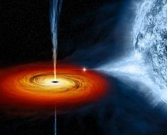 Black Hole.  Interesting read here Artist's conception of Cygnus X-1 system. (Credit: Chandra/NASA);