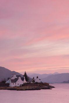 Sunrise over Lochcarron, Plockton, Scottish Highlands.