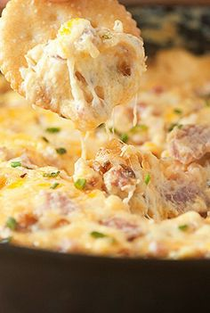 A hot ham and cheese dip.  It's not the version my grandma and I make, but it looks like it's worth a try some time!