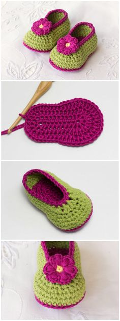 Crochet Baby Booties baby booties pattern and this collection is filled with sweet ideas that are perfect for a newborn. Crochet Baby Sandals, Baby Girl Crochet, Crochet Baby Booties, Crochet Slippers, Crochet Shoes, Baby Booties Knitting Pattern, Baby Knitting Patterns, Baby Patterns, Crochet Crafts