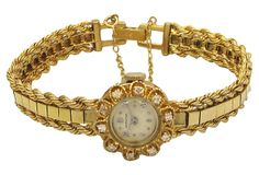 GOLDEN AGE Hamilton Gold & Diamond Watch, 1952