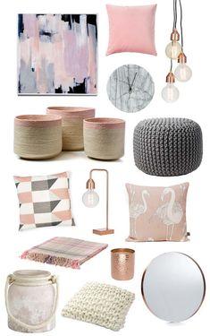 Chambre rose et gris- comment la décorer pour être dans le vent #DIYHomeDecorChambre